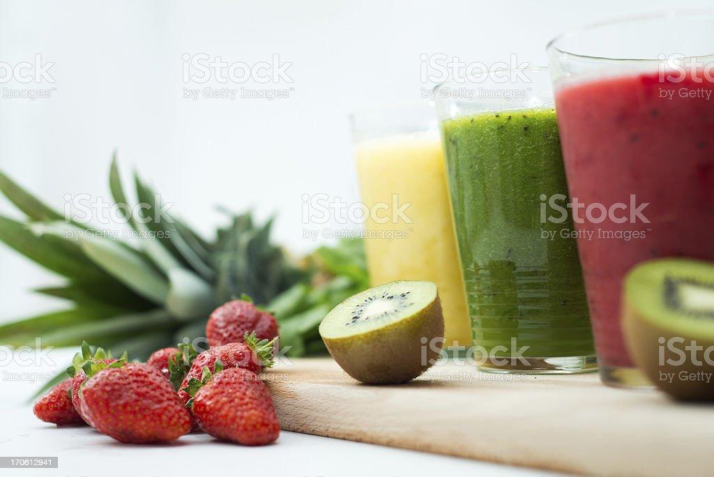 Fresh, healthy smoothies royalty-free stock photo