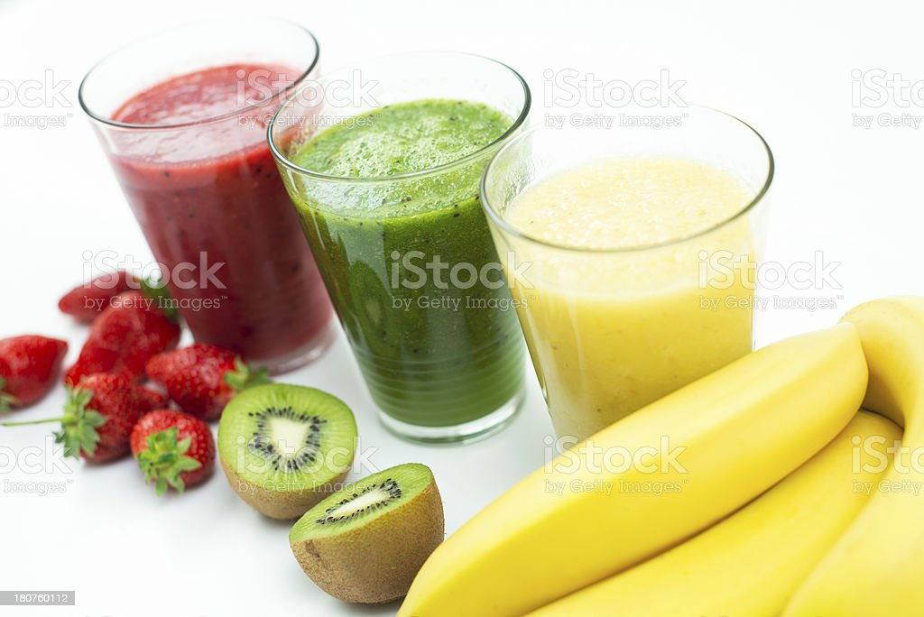 Fresh, healthy smoothies royalty-free stock photo
