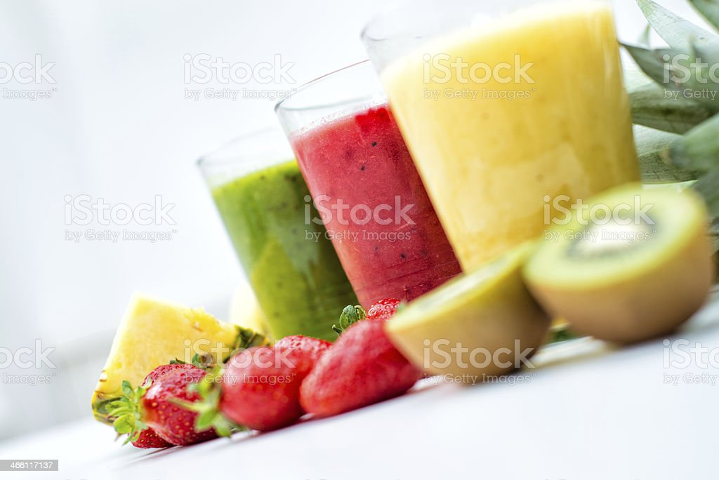 Fresh, healthy smoothies stock photo
