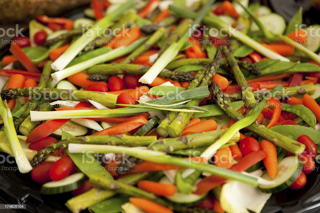 Fresh Healthy Vegetables on a Platter for Dinner Guests royalty-free stock photo