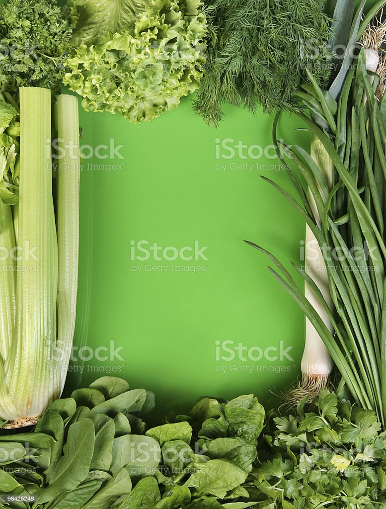 Fresh herb frame royalty-free stock photo