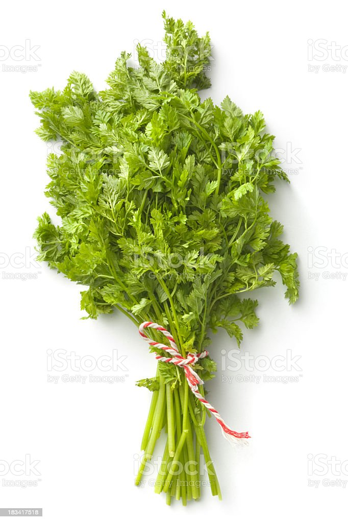 Fresh Herbs: Chervil stock photo