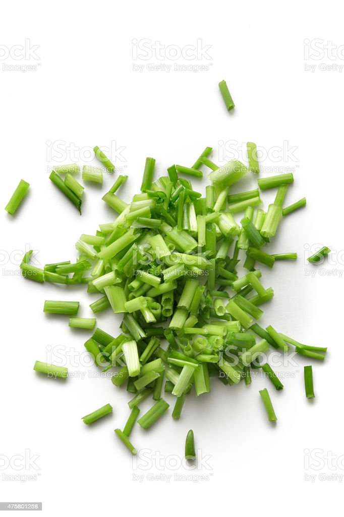 Fresh Herbs: Chives stock photo