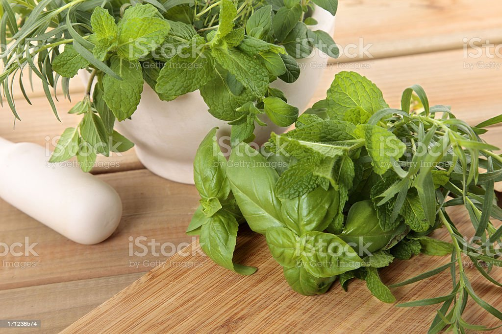 Fresh herbs royalty-free stock photo
