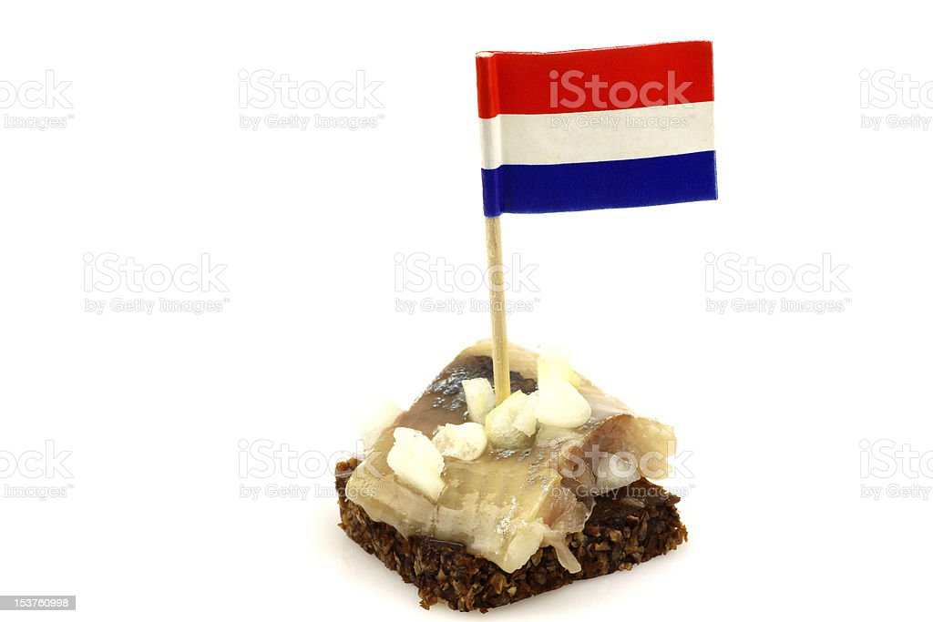 Fresh herring (Dutch 'Hollandse Nieuwe') stock photo