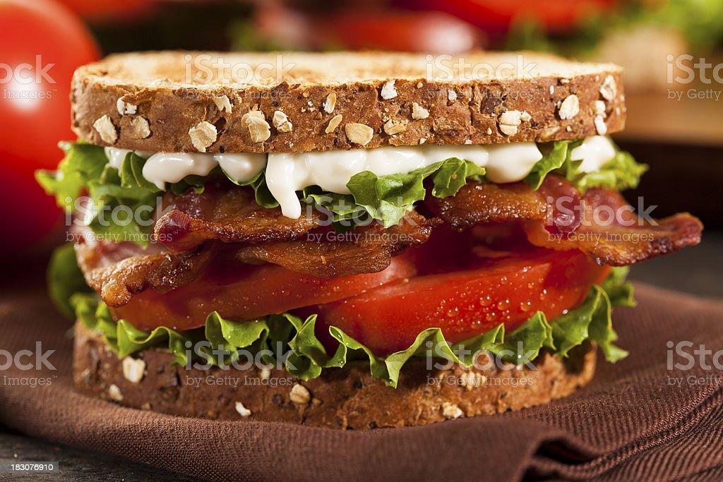 Fresh Homemade BLT Sandwich stock photo