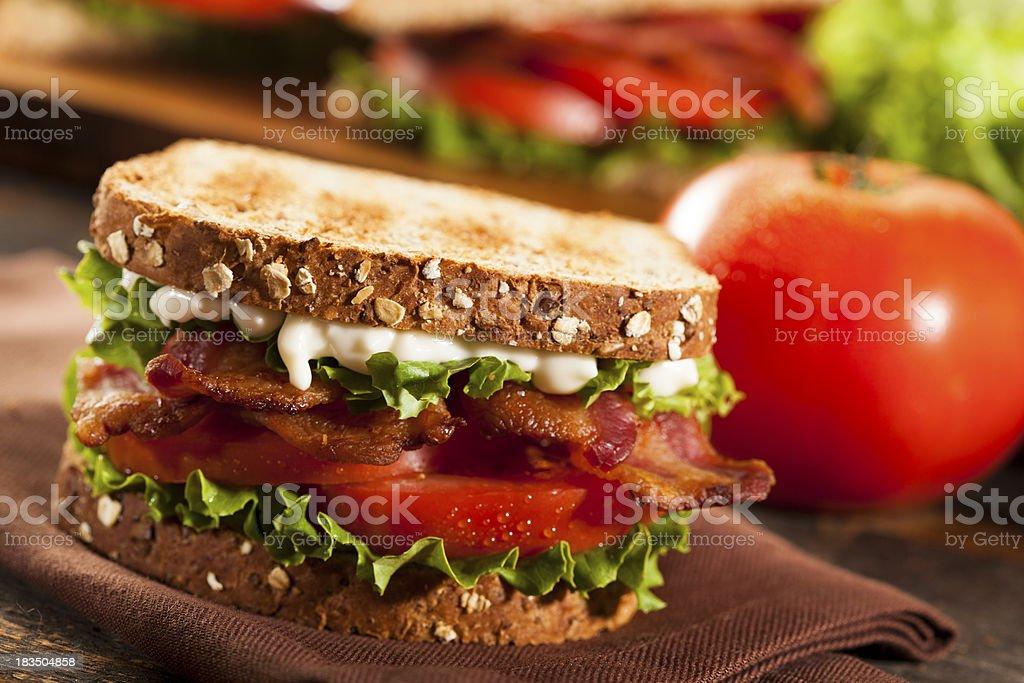 Fresh Homemade BLT Sandwich royalty-free stock photo