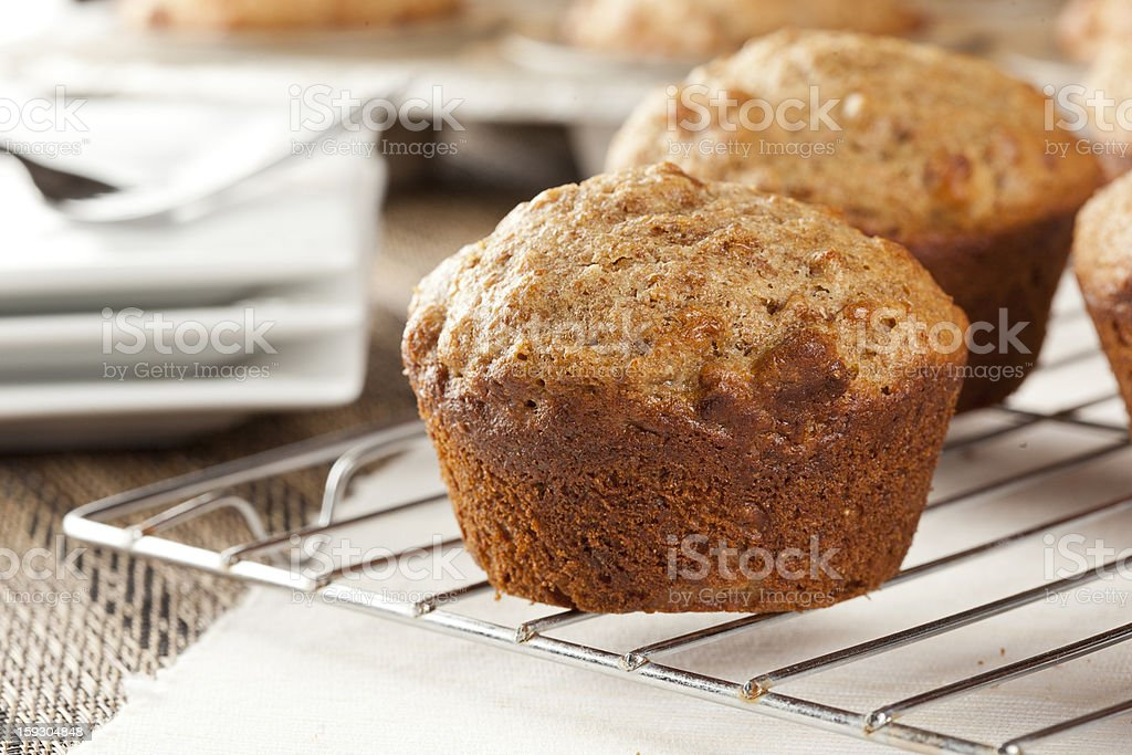 Fresh Homemade Bran Muffins stock photo