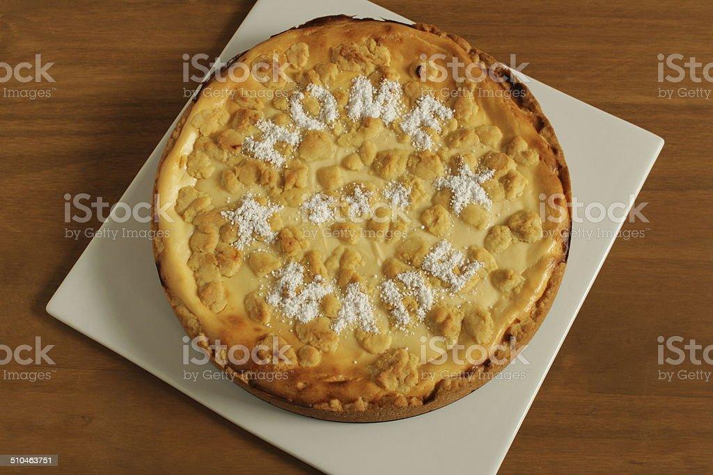 fresh homemade cheesecake stock photo