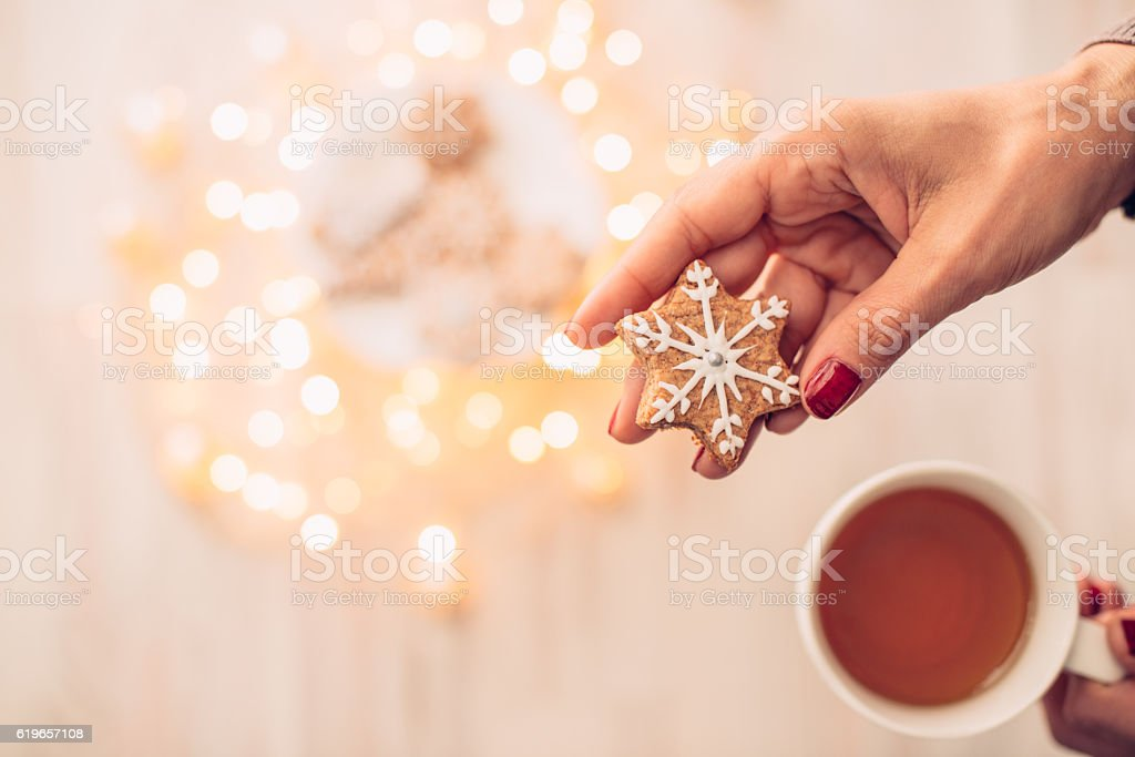 Fresh Homemade Christmas Cookies stock photo