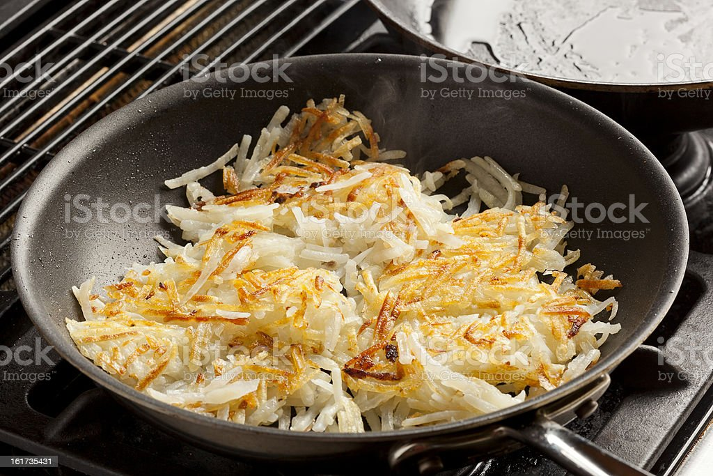 Fresh Homemade Hash Browns royalty-free stock photo