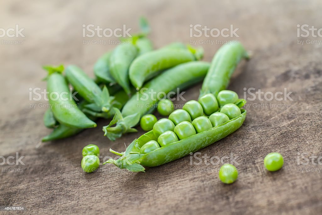 Fresh Homemade Peas stock photo