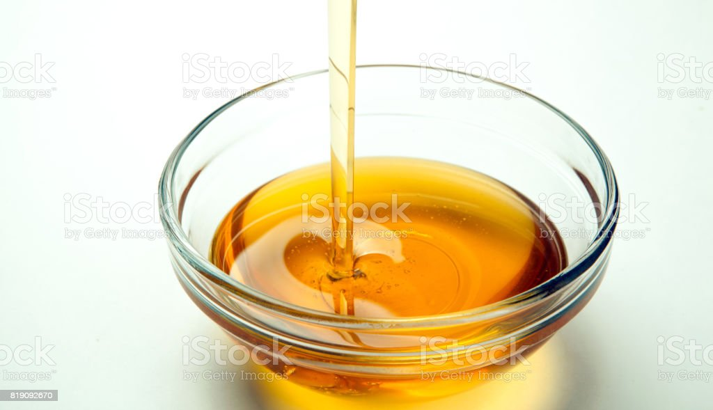 fresh honey on a white background stock photo