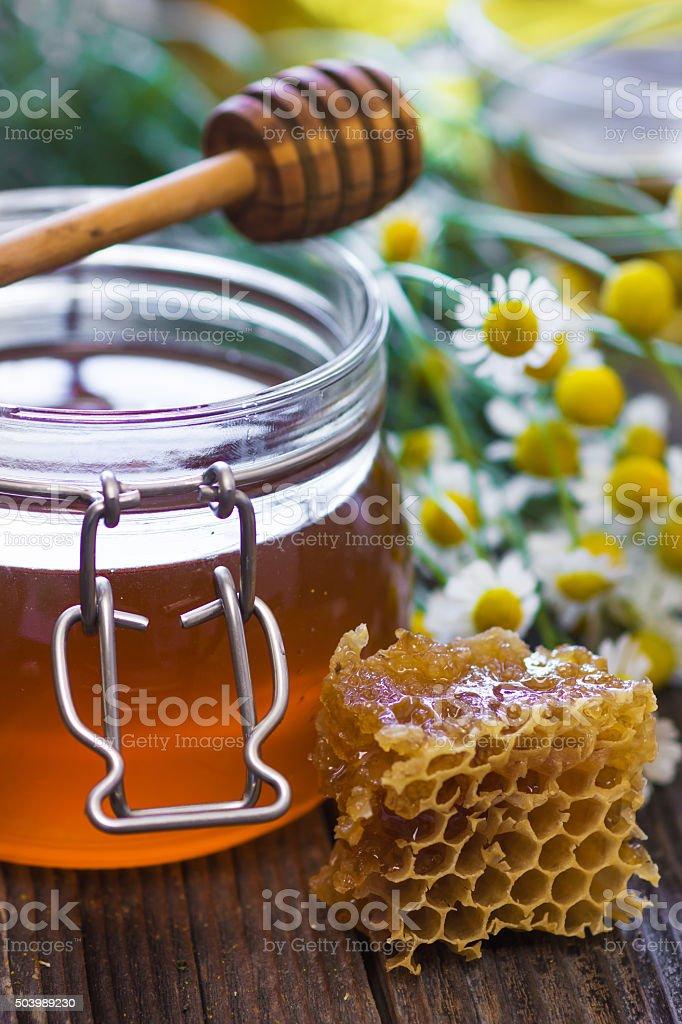 Fresh honey stock photo