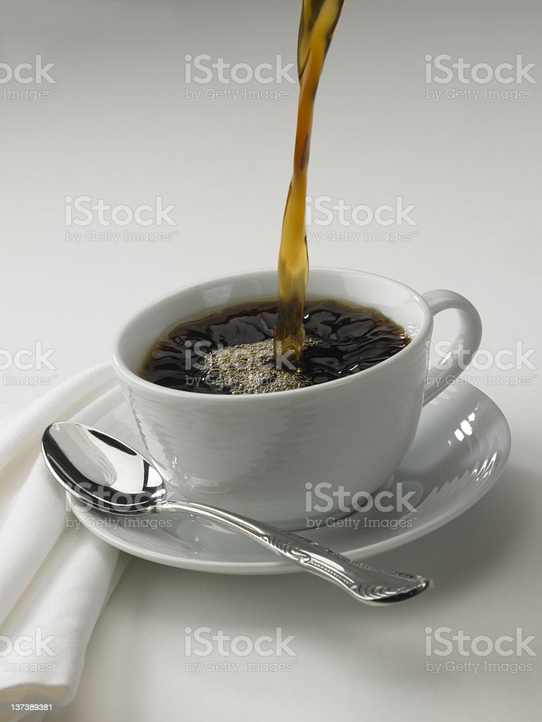Fresh hot coffee stock photo