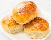 fresh hot dinner rolls