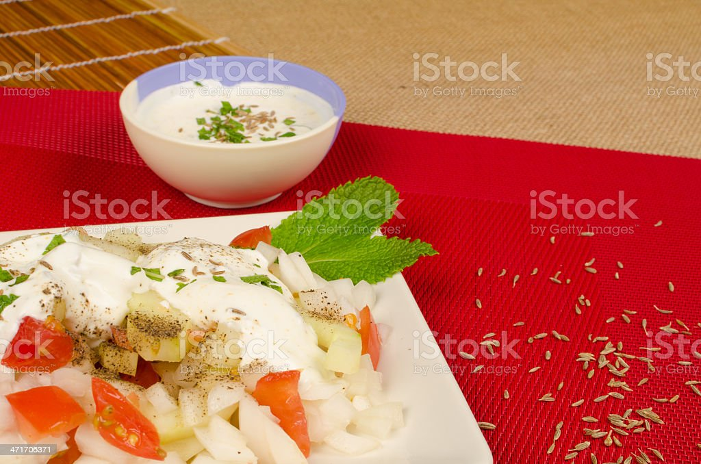 Fresh Indian salad royalty-free stock photo