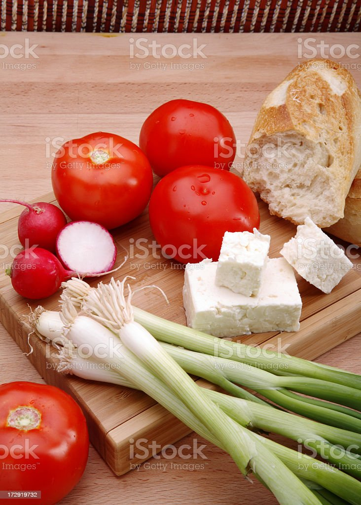 Fresh ingredients for a summer salad royalty-free stock photo