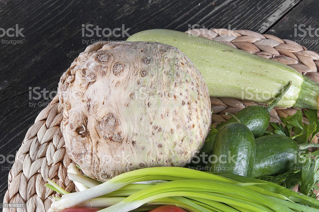 Fresh ingredients for cooking on the table royalty-free stock photo