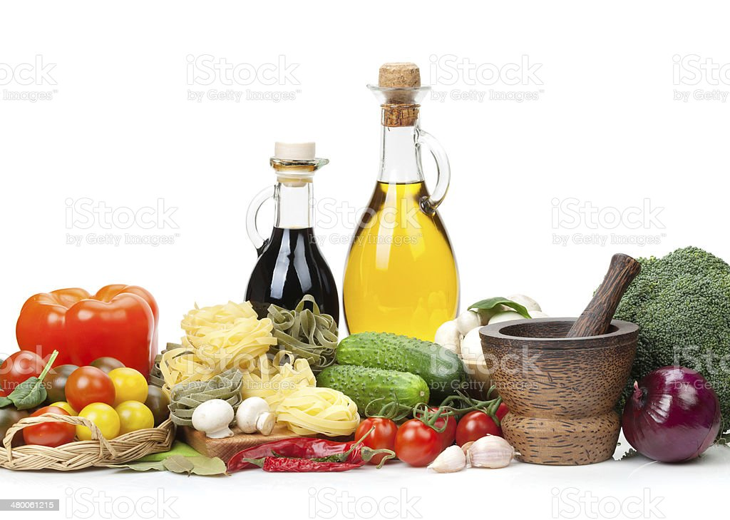 Fresh ingredients for cooking stock photo