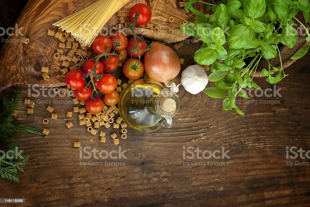 Fresh ingredients stock photo