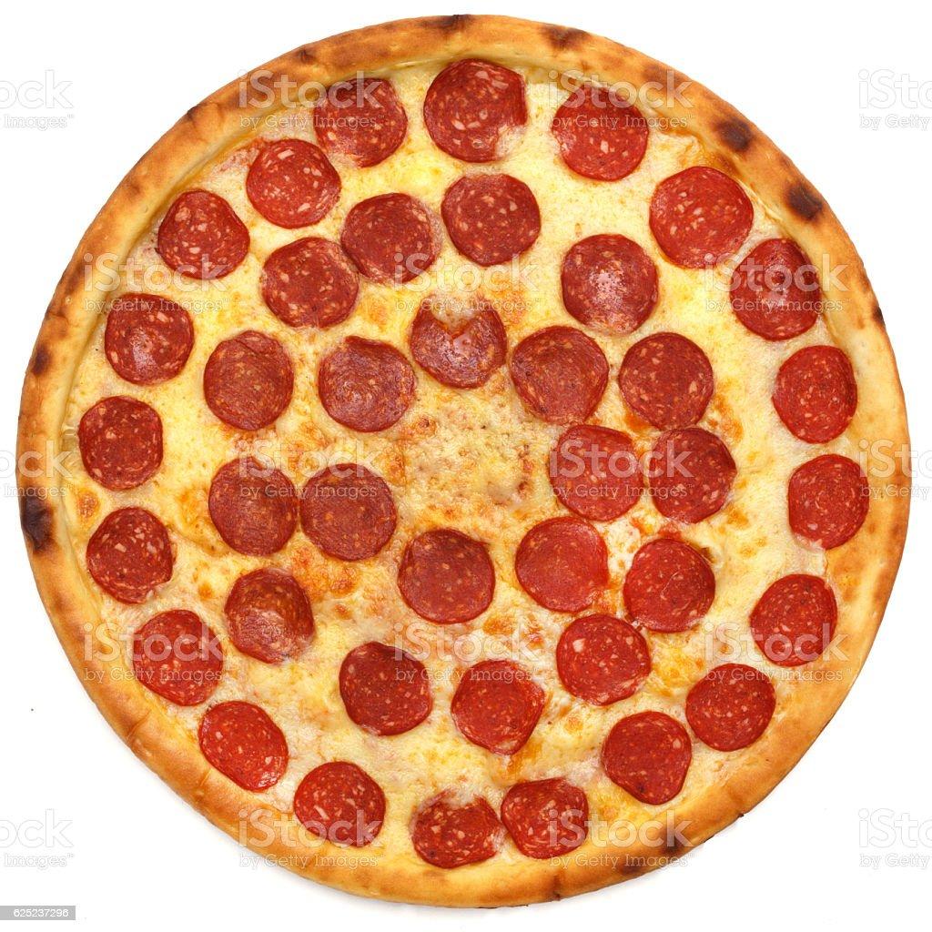 fresh italian classic original pizza isolated on white stock photo