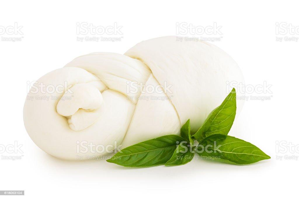 Fresh Italian mozzarella. stock photo