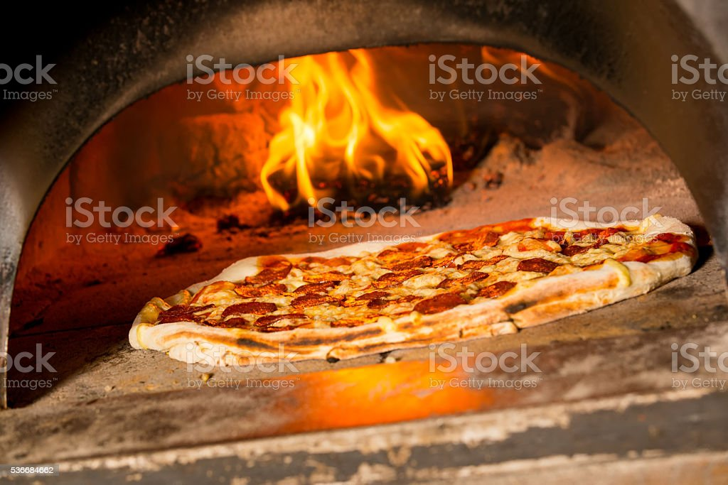 Fresh Italian pizza stock photo