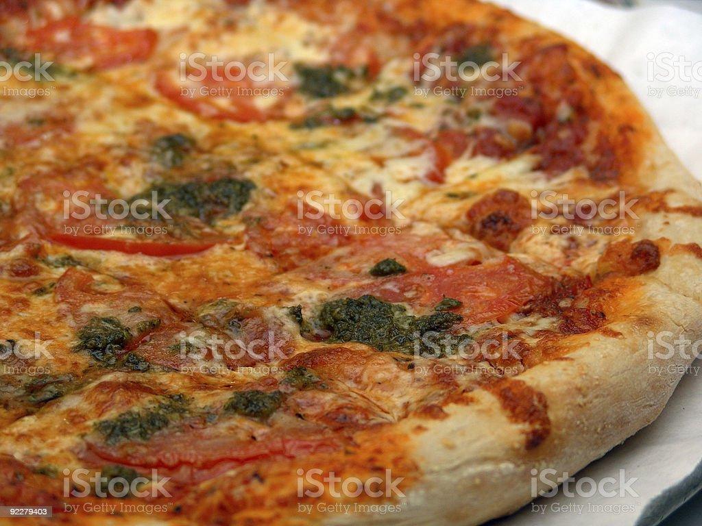 Fresh Italian Pizza Pie Close Up royalty-free stock photo