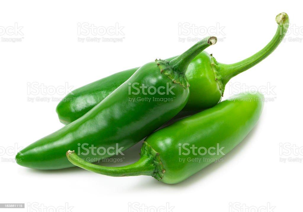 Fresh jalapeno peppers stock photo