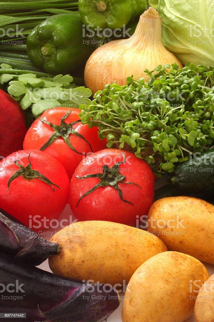 Fresh Japanese Vegetables stock photo
