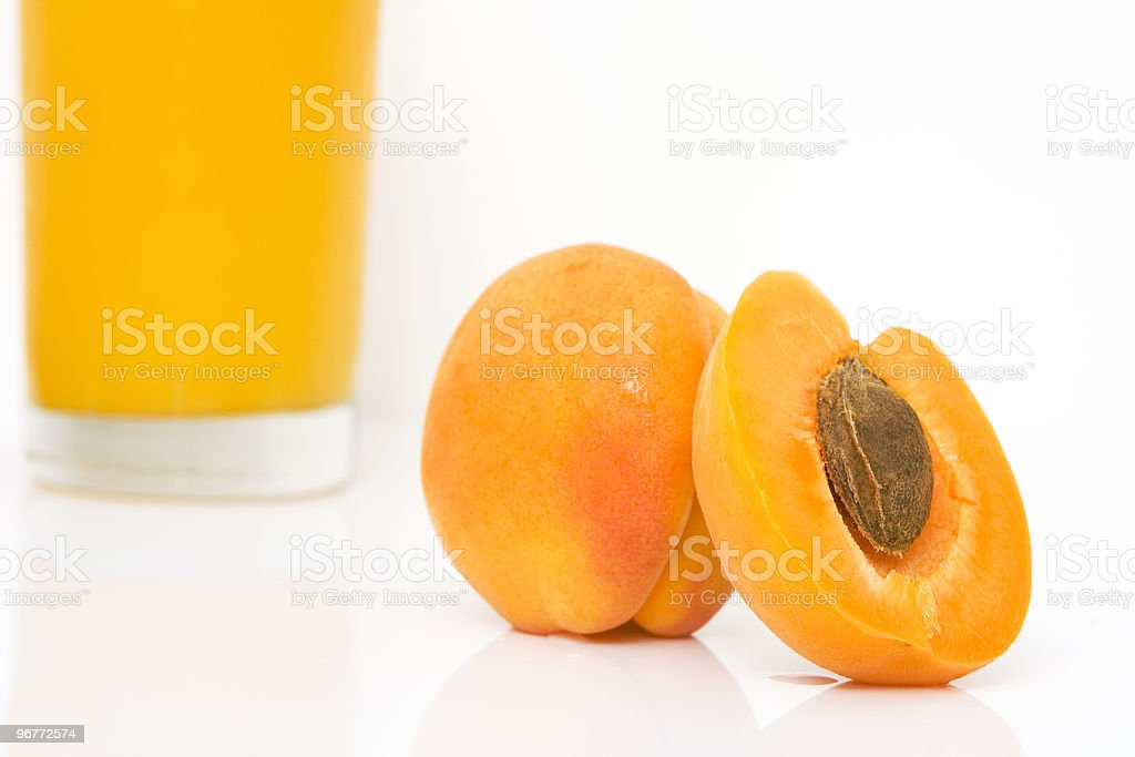 fresh juice of apricots stock photo