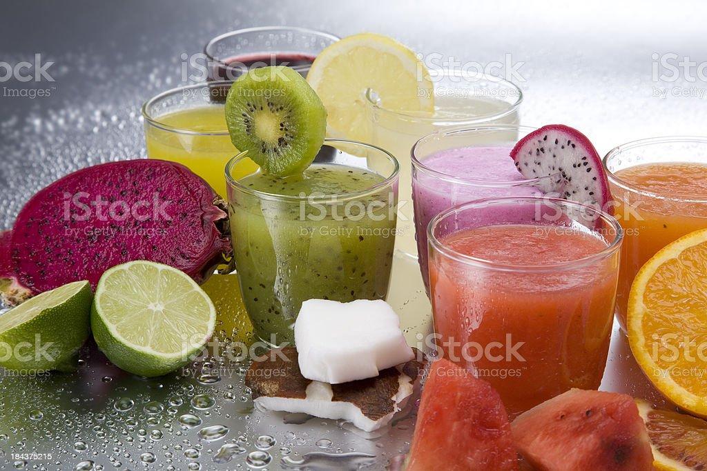 Fresh juices stock photo