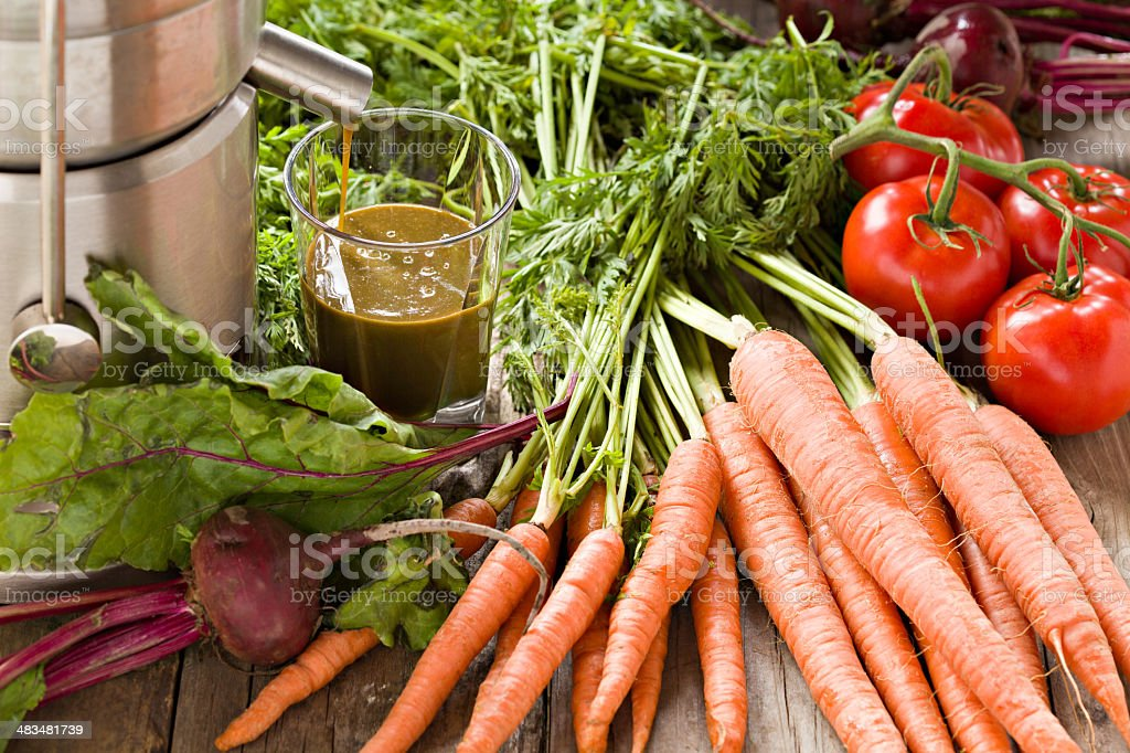 Fresh Juicing stock photo