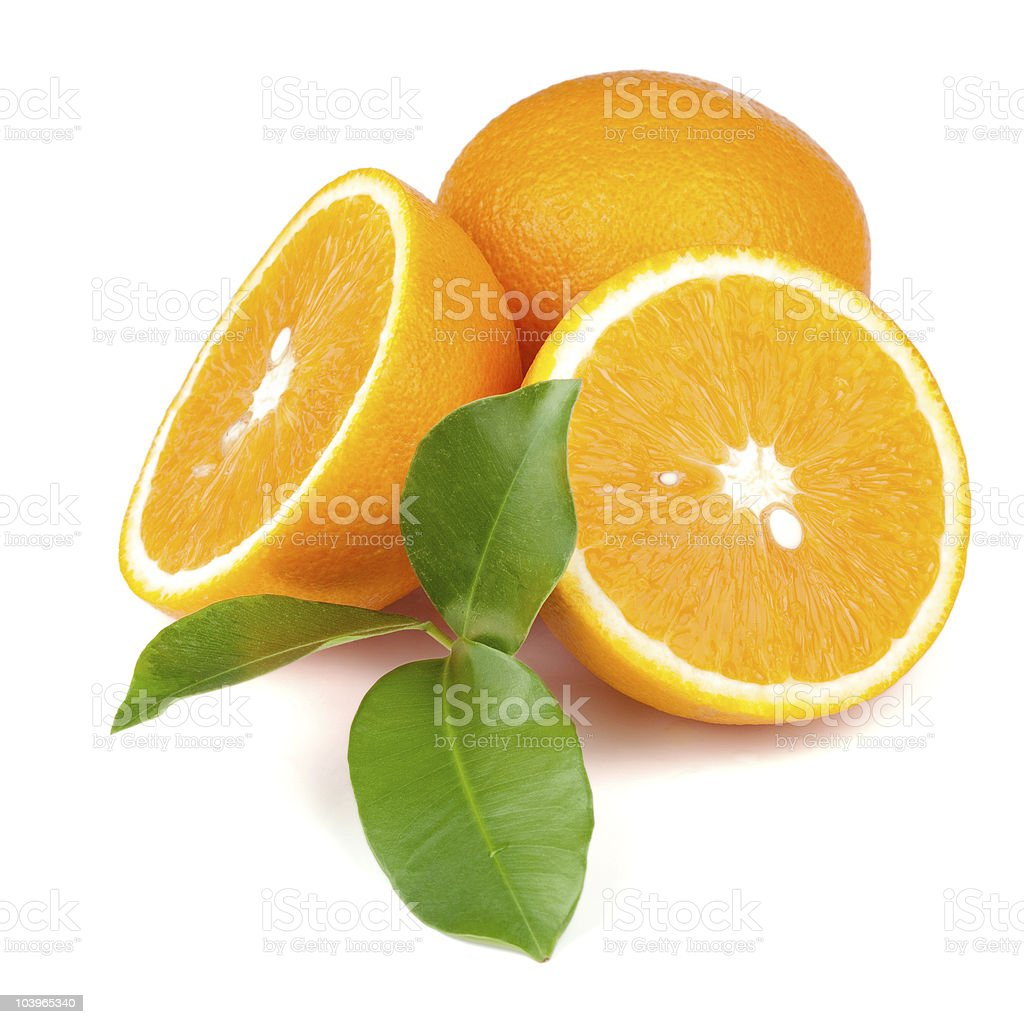 Fresh juicy oranges stock photo