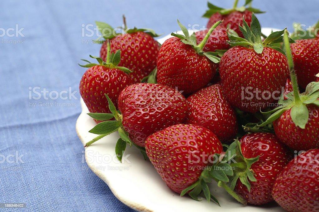 Fresh June Strawberries royalty-free stock photo