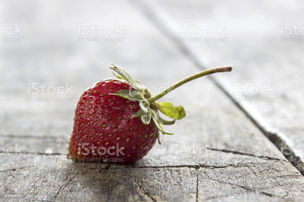 fresh, just-picked, strawberries stock photo
