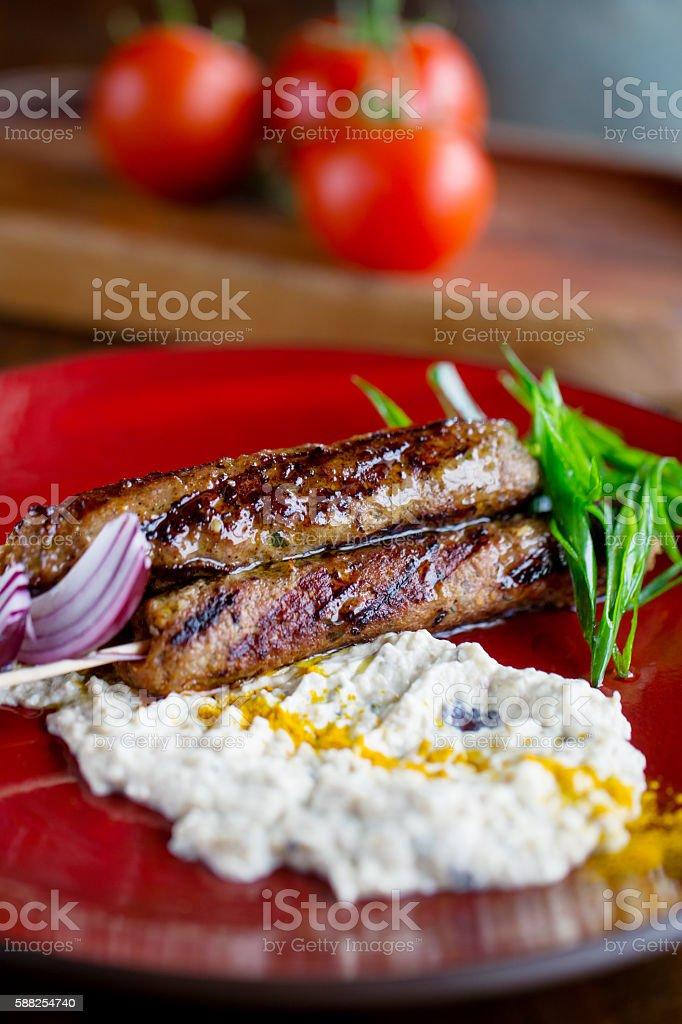 Fresh kebab stock photo