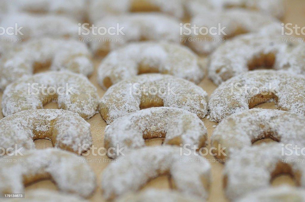 Fresh kipferl cookies stock photo