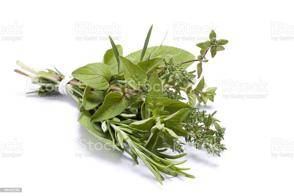 Fresh kitchen herbs royalty-free stock photo