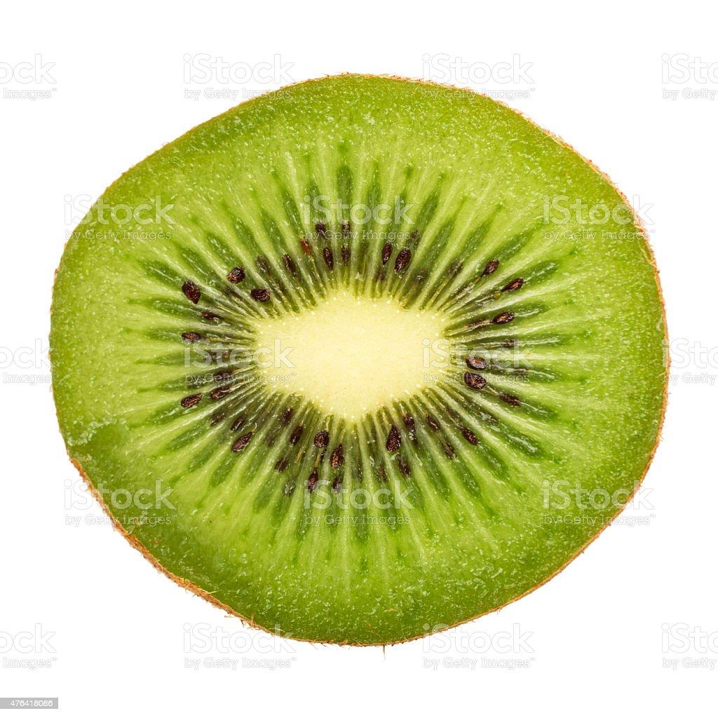 Fresh kiwi fruit isolated on white background stock photo