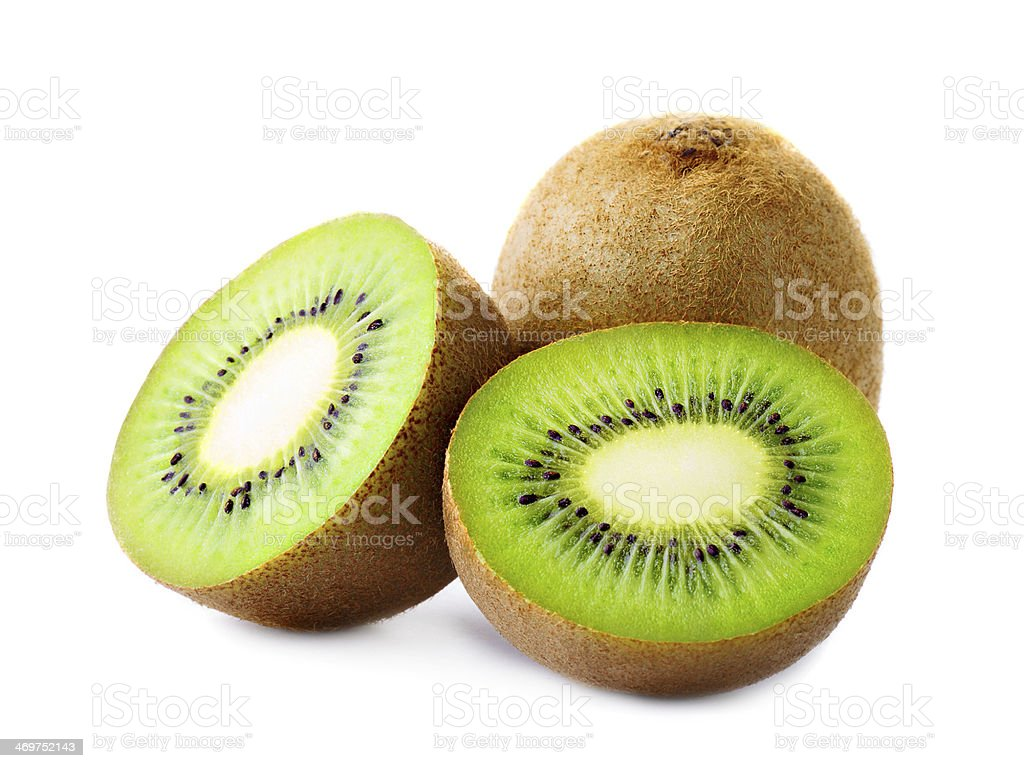Fresh kiwi isolated on white royalty-free stock photo
