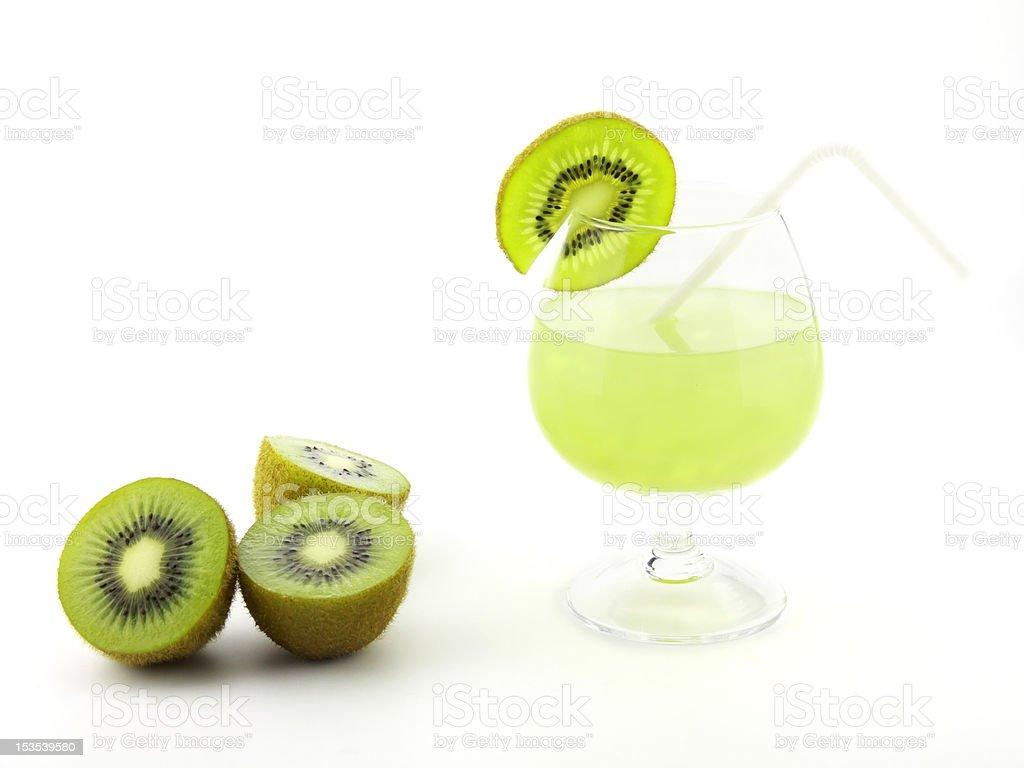 fresh kiwi juice royalty-free stock photo