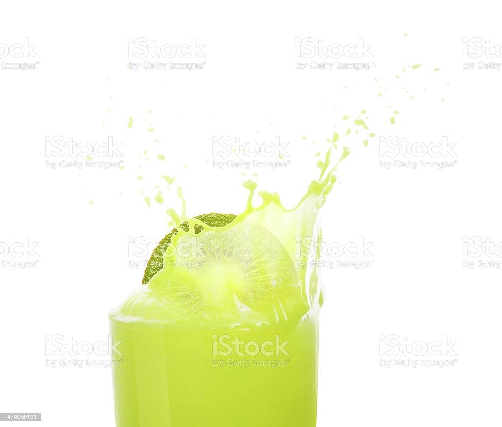 fresh kiwi juice stock photo