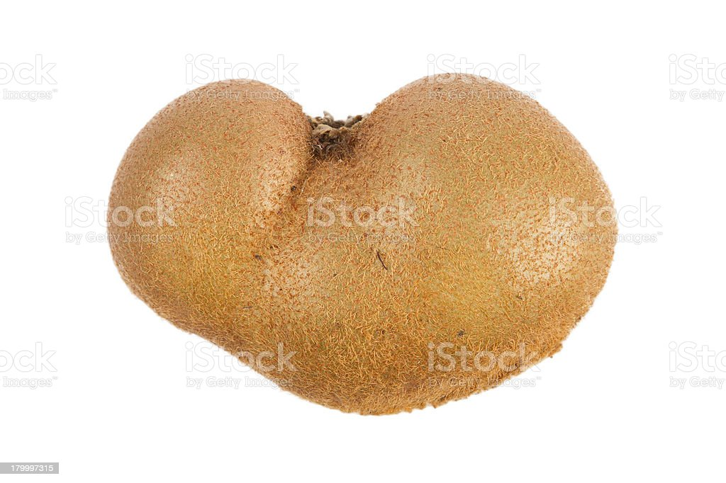 Fresh kiwis with funny deformations stock photo