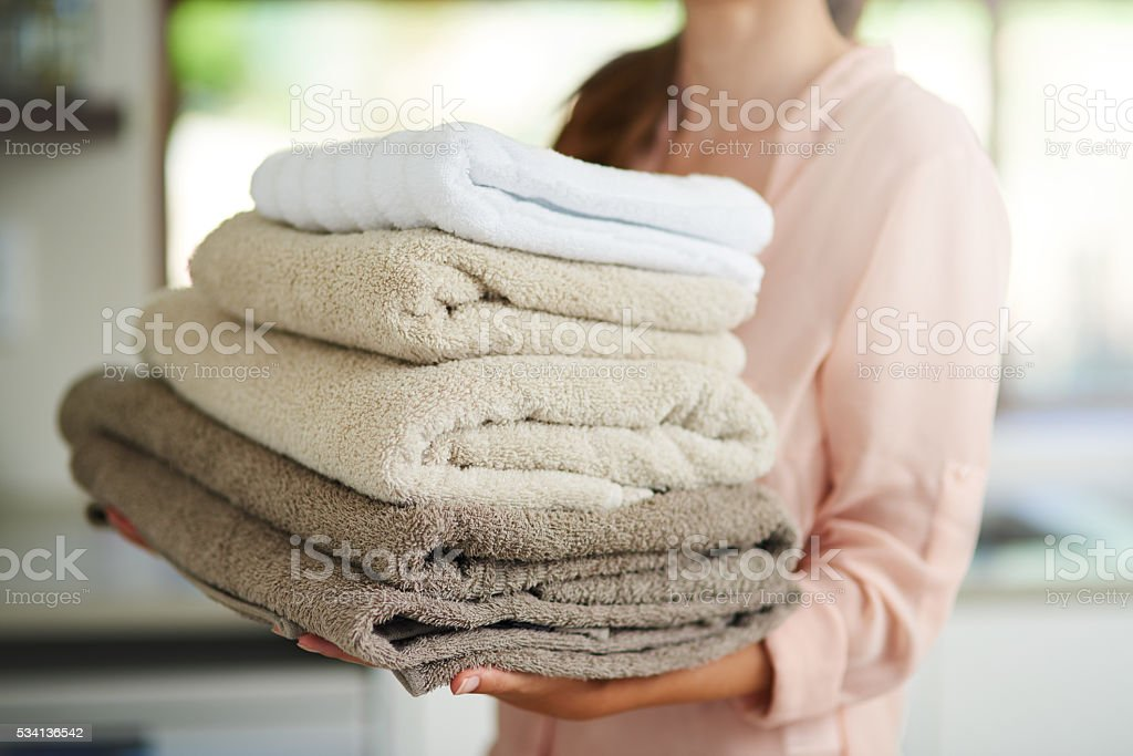 Fresh laundry stock photo