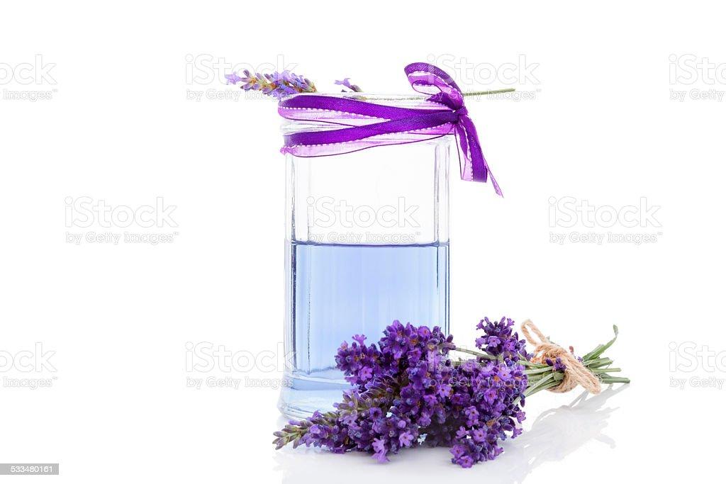 Fresh lavender lemonade. stock photo