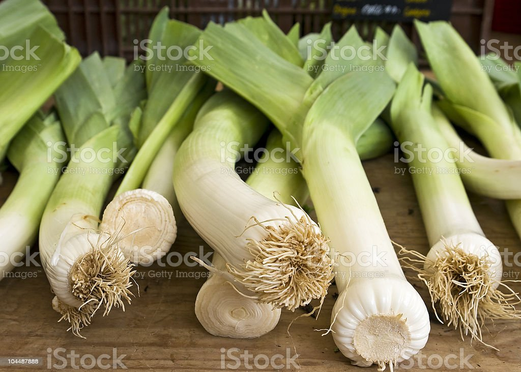 Fresh leek royalty-free stock photo