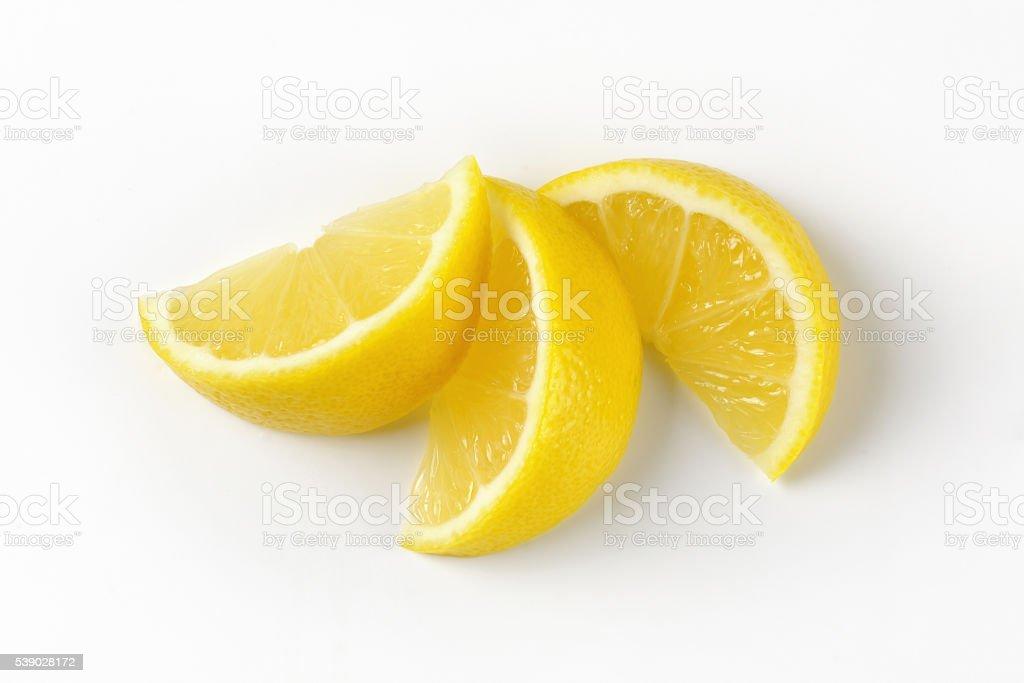 fresh lemon slices stock photo