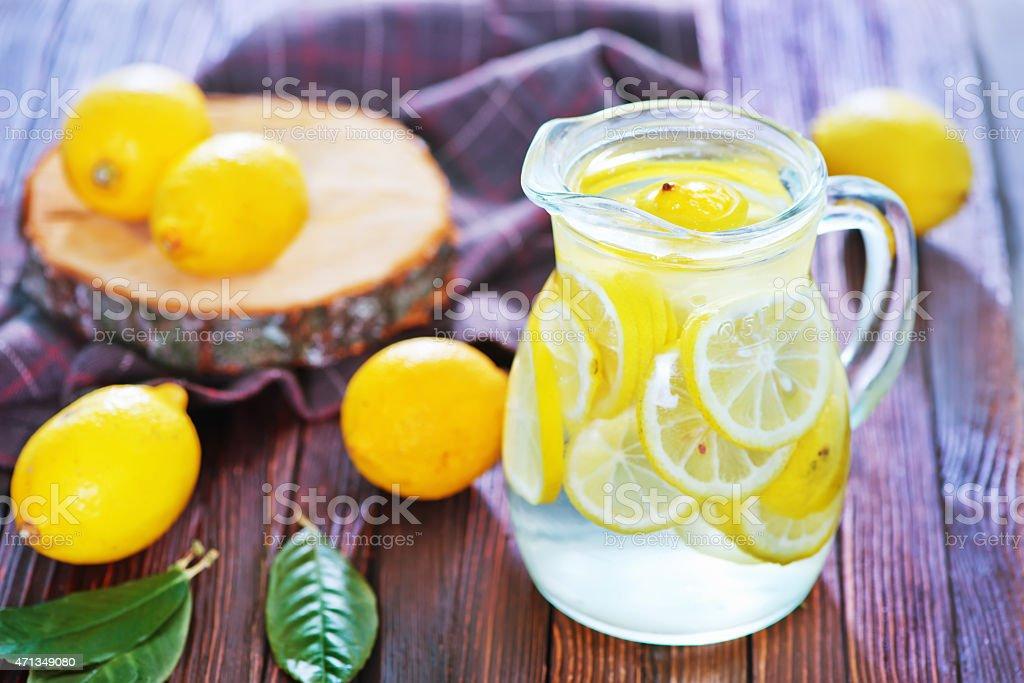 fresh lemonad stock photo